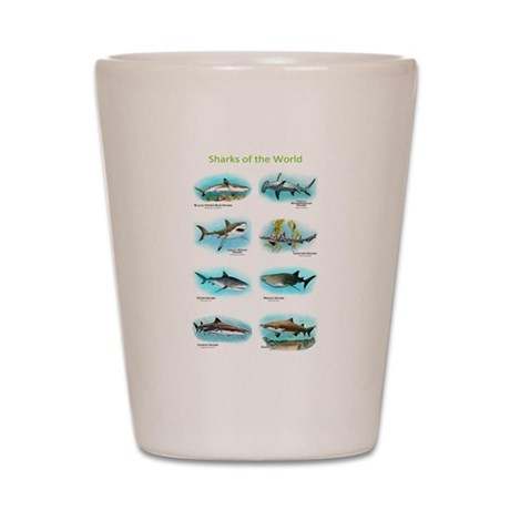 Sharks of the World Shot Glass