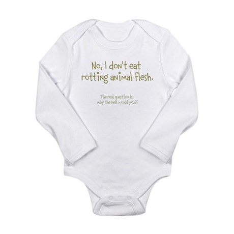 'The Real Question' Long Sleeve Infant Bodysuit