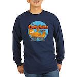 Garfield Show Logo Long Sleeve Dark T-Shirt