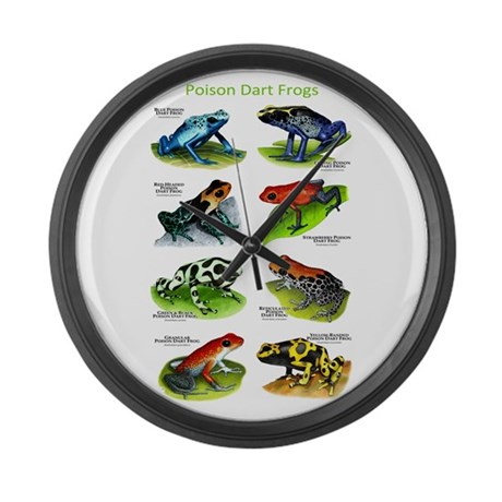 Poison Dart Frogs Large Wall Clock