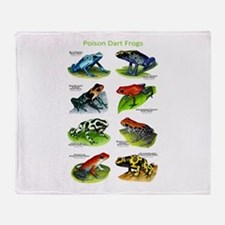 Poison Dart Frogs Throw Blanket