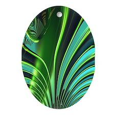 """Jungle 4"" Fractal Art Oval Ornament"