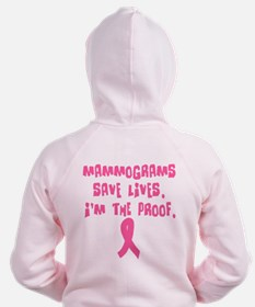 Mammograms Save Lives Zip Hoody
