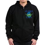 Little Monster Carl Zip Hoodie (dark)