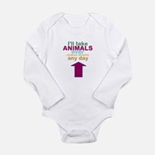 'Animals Over Humans' Long Sleeve Infant Bodysuit