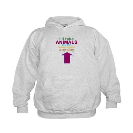 'Animals Over Humans' Kids Hoodie
