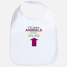 'Animals Over Humans' Bib