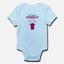 'Animals Over Humans' Infant Bodysuit