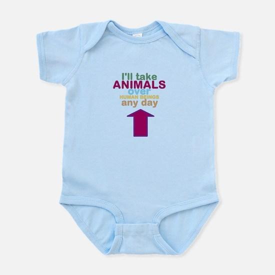 'Animals Over Humans' Infant Bodysuit