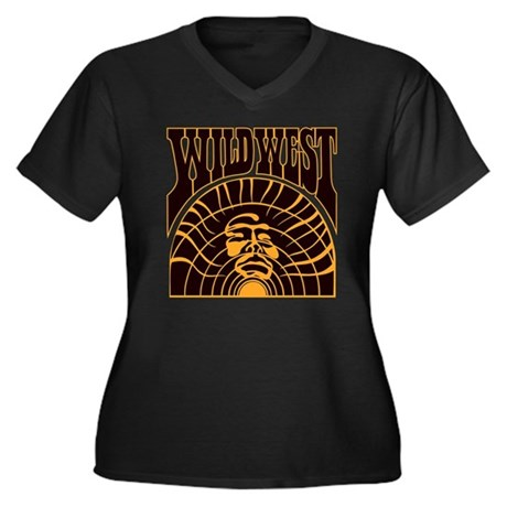 The Real Wild West Women's Plus Size V-Neck Dark T
