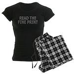 Read the Fine Print Women's Dark Pajamas