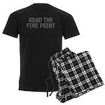 Read the Fine Print Men's Dark Pajamas