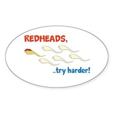 Redhead Sperm Try Harder! Decal