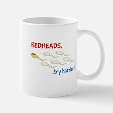Redhead Sperm Try Harder! Mug