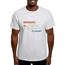 Redhead Sperm Try Harder! T-Shirt