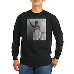 woman Long Sleeve Dark T-Shirt