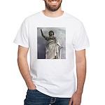 woman White T-Shirt