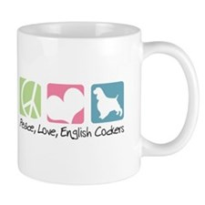 Peace, Love, English Cockers Mug