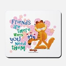 """Friends Are There"" Garfield Mousepad"