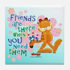 """Friends Are There"" Garfield Tile Coaster"