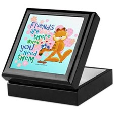 """Friends Are There"" Garfield Keepsake Box"