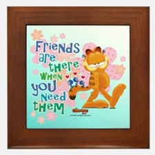 """Friends Are There"" Garfield Framed Tile"