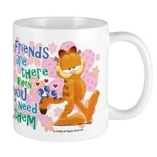 """Friends Are There"" Garfield Coffee Mug"