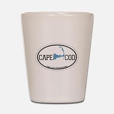 Cape Cod MA - Oval Design Shot Glass