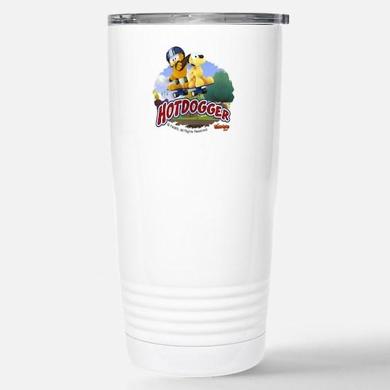 Garfield Hotdogger Stainless Steel Travel Mug