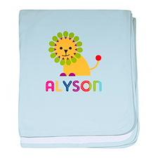 Alyson the Lion baby blanket
