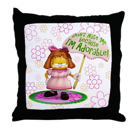 "Garfield ""I'm Adorable"" Throw Pillow"