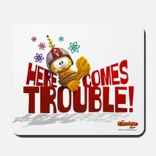 """Garfield """"Here Comes Trouble"""" Mousepad"""