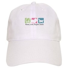 Peace, Love, English Setters Baseball Cap