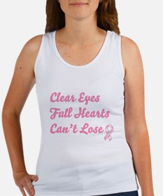 Breast Cancer Clear Eyes Women's Tank Top