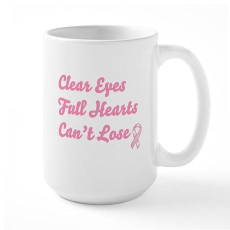 Breast Cancer Clear Eyes Large Mug