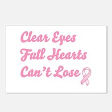 Breast Cancer Clear Eyes Postcards (Package of 8)