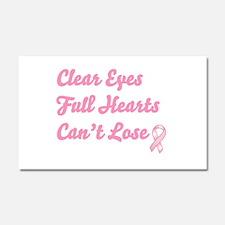 Breast Cancer Clear Eyes Car Magnet 20 x 12