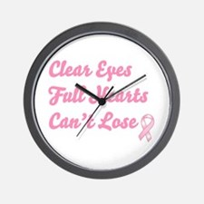 Breast Cancer Clear Eyes Wall Clock