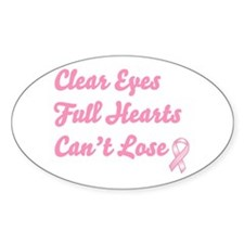 Breast Cancer Clear Eyes Decal