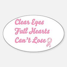 Breast Cancer Clear Eyes Decal