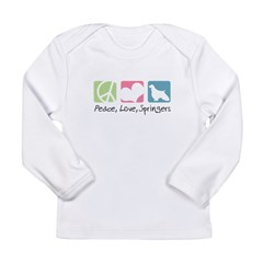 Peace, Love, Springers Long Sleeve Infant T-Shirt