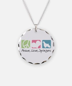 Peace, Love, Springers Necklace