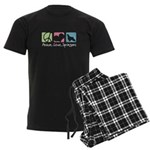 Peace, Love, Springers Men's Dark Pajamas