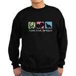 Peace, Love, Springers Sweatshirt (dark)
