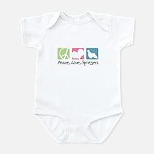 Peace, Love, Springers Infant Bodysuit
