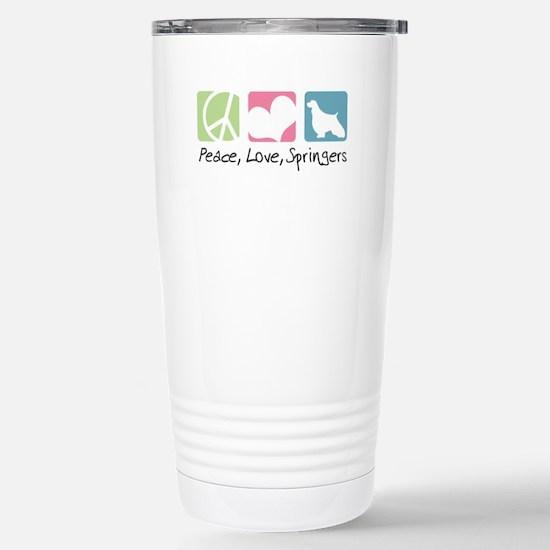 Peace, Love, Springers Stainless Steel Travel Mug