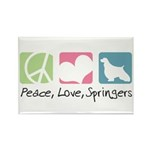 Peace, Love, Springers Rectangle Magnet (10 pack)