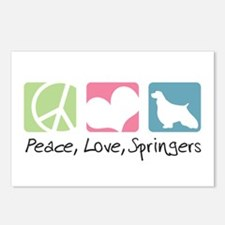 Peace, Love, Springers Postcards (Package of 8)