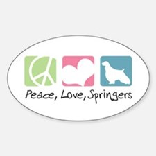 Peace, Love, Springers Decal