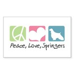 Peace, Love, Springers Sticker (Rectangle 50 pk)